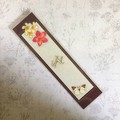 'Thank You' Bookmark with Four Frangipanis