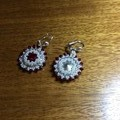 "Beaded earrings. ""Audrey"" earrings"