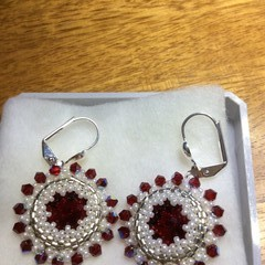 "Beaded earrings. ""Audrey"" earrings"