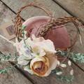 Fascinator Hat Pink / Floral Fascinator / Pheasant Tail Fascinator / Pink Flower
