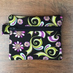 Purple Floral Coin Purse