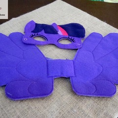 TWILIGHT SPARKLE- Childs Pretend Play Mask & Large Wing Set - (My Little Pony)
