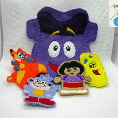DORA THE EXPLORER-  Children's Finger Puppet Set, Fun for children from 2+