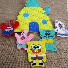 SPONGE BOB - Children's Finger Puppet Set, Fun for Children 2 +
