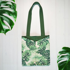 Monstera Green Eco Friendly Sustainable Tote Bag