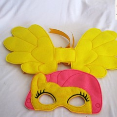 FLUTTER SHY- Childs Pretend Play Face Mask & Large Wing - (My Little Pony)