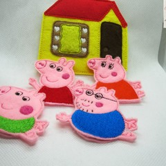 PEPPA PIG-  Children's Finger Puppet Set,Fun for children from 2+