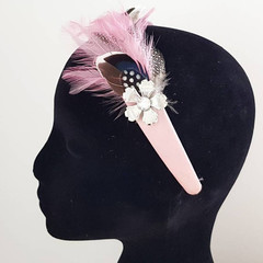 Pink Feather Headband / Pink Headband / Pink Feather / Hair Accessories/ Special