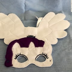 RARITY - Childs Pretend Play Mask & Large Wing Set - (My Little Pony)
