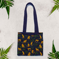 Jungle Cheetah Eco Friendly Sustainable Tote Bag