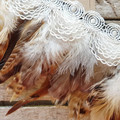 Brown Feather Choker / Feather Collar / Cockerel Feather Choker / Gothic Feather
