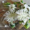 Infants Feather and Flower Headband / Girls floral headband / Flower girl Hair /