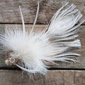 White Peacock Feather Hair Clip / Peacock Fascinator white / wedding hair / Brid