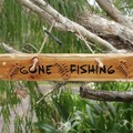 Gone Fishing Reclaimed Timber Sign