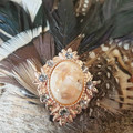 Feather Hair Clip / Fascinator Clip / Feathers for Hair / Wedding Hair / Bridesm