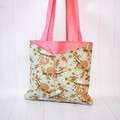 Floral Sloth Eco Friendly Sustainable Tote Bag
