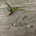 Earthy Crystal Earrings