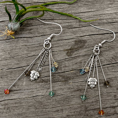Earthy Crystal Earrings