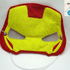 IRON MAN ARMOR MK VIII- Childs Pretend Play Face Mask (Ironman)