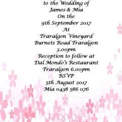 PINK BLOSSOM WEDDING INVITATION SAMPLE