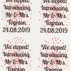 PERSONALISED HEARTS  89 X 120.7MM WINE BOTTLE LABELS