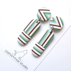 Stripealicious Drop Statement earrings