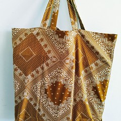 Foldable eco bag / BEIGE - Bandana