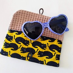 KIDS / MULTI POUCH - YELLOW - BLACK cat