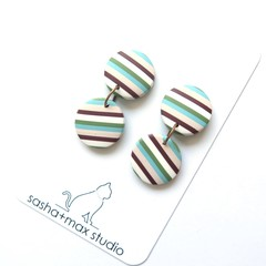 Stripealicious Drop Round Statement earrings