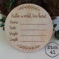 Personalised Birth Announcement Plaque