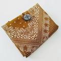 foldable eco bag + scrunchie set / BEIGE - Bandana / gift for her / gift