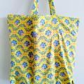 Foldable eco bag / YELLOW - BEE & HONEYCOMB