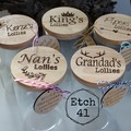 Personalised Etched  Jars - Large