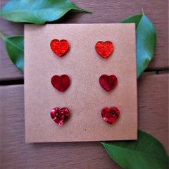Trio of Hearts studs