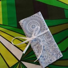 Crochet Hook Handy Wrap-Blue modern print #2