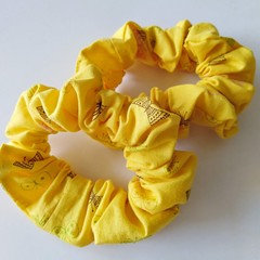 Set of 2 Scrunchies / YELLOW - Butterfly