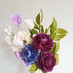 Closed Ranunculus Bouquet    coffee table decor, home decorations, shelf decor.