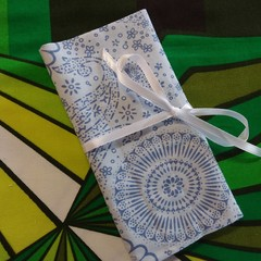 Crochet Hook Handy Wrap-Blue modern print #1