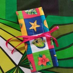 Crochet Hook Handy Wrap- Mini wrap,  sea shells and fish print