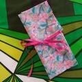 Crochet Hook Handy Wrap-Mosaic flower print #2