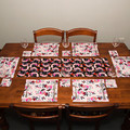 Australian native floral reversible placemat - LILLY PILLY