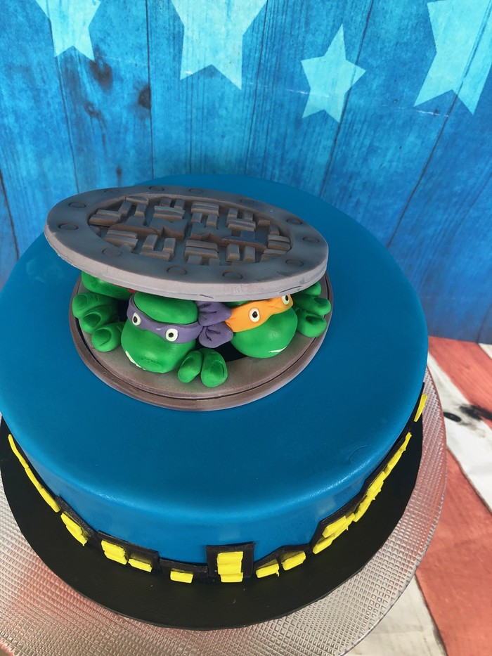 Teenage Mutant Ninja Turtle Cake Decoration   Sugar By ...