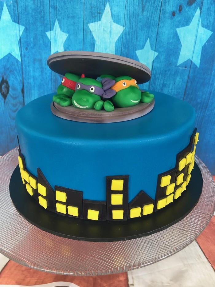 Teenage Mutant Ninja Turtle Cake Decoration | Sugar By ...