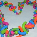 Colourful noodle necklace