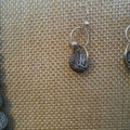 """GREY """"LAVA ROCK"""" NECKLACE AND EARRINGS"""
