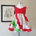 Cherry swirly dress
