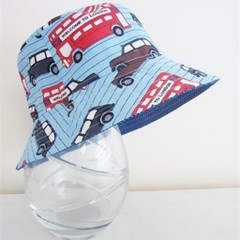 Boys summer hat in London vehicle fabric