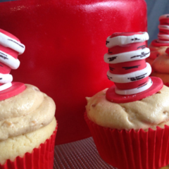 Cat In The Hat Suess Cupcake Toppers