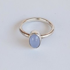 Handmade Sterling Silver Ring with Chalcedony