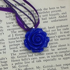 Flower Garden Necklace in Purple and Blue